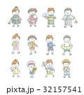 夏 子供 女の子のイラスト 32157541