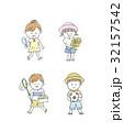 夏 子供 女の子のイラスト 32157542
