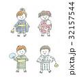 夏 子供 女の子のイラスト 32157544