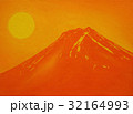 Oil painting on Canvas,Orange Mt.Fuji in Summer 32164993
