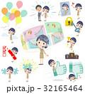 女性 人物 コールセンターのイラスト 32165464