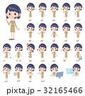 女性 人物 コールセンターのイラスト 32165466