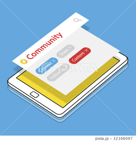 Blog Online Get In Touch Digital Community Mediaのイラスト素材 [32166097] - PIXTA