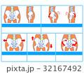 骨格 イメージ図 ゆがみのイラスト 32167492
