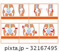 骨格 イメージ図 ゆがみのイラスト 32167495
