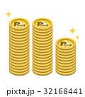 ポイント コイン たくさんのイラスト 32168441