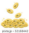 ポイント コイン たくさんのイラスト 32168442