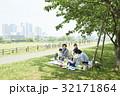 3世代家族 ピクニック 弁当の写真 32171864