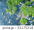 Aerial image of river and trees. 32175218