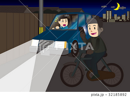 自転車の危険運転 32185892