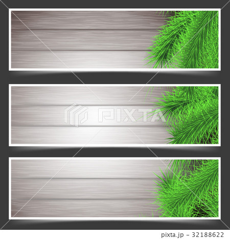 Rustic Christmas fir tree flyers collection 32188622