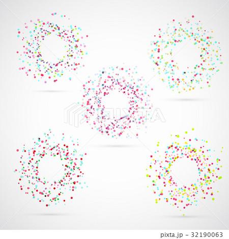 Bright colorful abstract circle templatesのイラスト素材 [32190063] - PIXTA