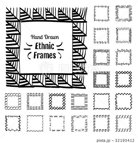 Ethnic Patterns or Framesのイラスト素材 [32193412] - PIXTA