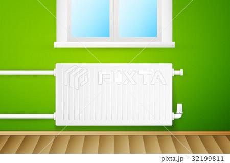 White realistic heating radiatorのイラスト素材 [32199811] - PIXTA
