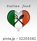 Italian food and flag 32203382