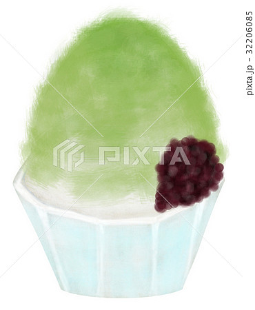 手描き かき氷 抹茶味 32206085