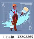 設計図 ビルダー 建築業者のイラスト 32208865