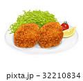コロッケ 揚げ物 洋食のイラスト 32210834