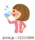 水分補給 水 飲むのイラスト 32215868