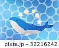 鯨 動物 哺乳類のイラスト 32216242