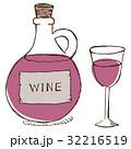 ワイン 赤ワイン ワイングラスのイラスト 32216519
