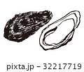 牡蠣 水墨画 生牡蠣のイラスト 32217719