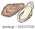 牡蠣 水墨画 生牡蠣のイラスト 32217720