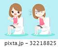 漫画 愛らしい 女性のイラスト 32218825