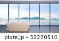 Luxury bathroom sea view , 3d rendering 32220510