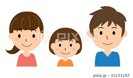 家族(父、母、女の子) 32233287