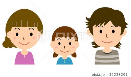 家族(父、母、女の子) 32233291
