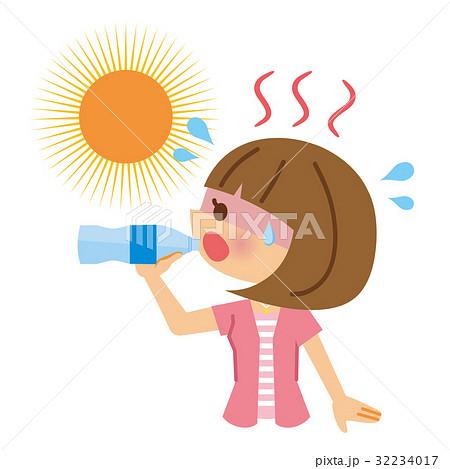 熱中症 水分補給のイラスト素材 32234017 Pixta