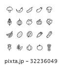 ベジタブル 野菜 アイコンのイラスト 32236049