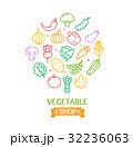 ベジタブル 野菜 ベクタのイラスト 32236063