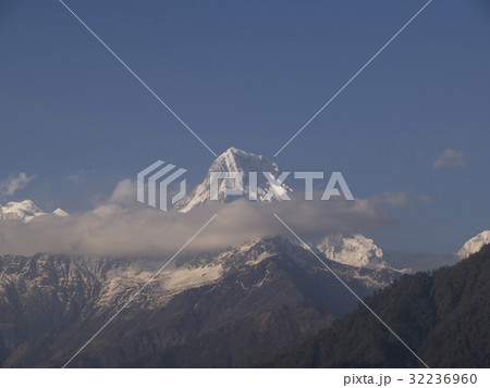 the landmark mountain of annapuna ; Nepal 32236960