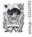 船長 海賊 墨のイラスト 32243765