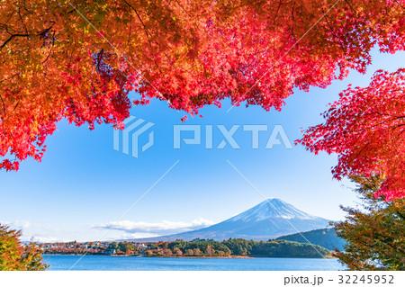 紅葉・富士山 32245952