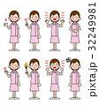 女性 看護師 スカート 帽子なし ピンク 32249981