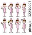 女性 看護師 ズボン 帽子あり ピンク 32250005