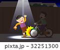 危険な自転車の無灯火運転 32251300