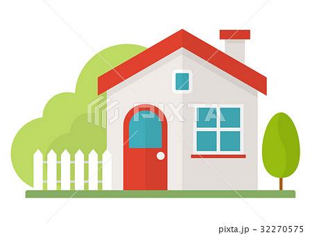シンプルな家のイラスト素材 32270575 Pixta