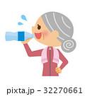 水分補給 シニア 女性 32270661