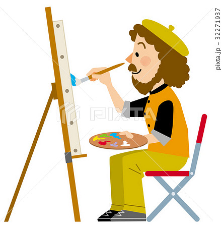 いろいろな職業 画家 絵描きのイラスト素材 [32271937] - PIXTA