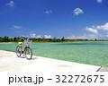 真夏の海と自転車 32272675