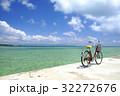 真夏の海と自転車 32272676