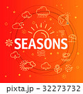 Seasons concept. Different thin line icons  32273732