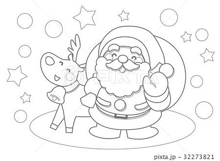 クリスマスぬりえのイラスト素材 32273821 Pixta