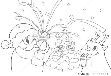 クリスマスぬりえのイラスト素材 32273823 Pixta