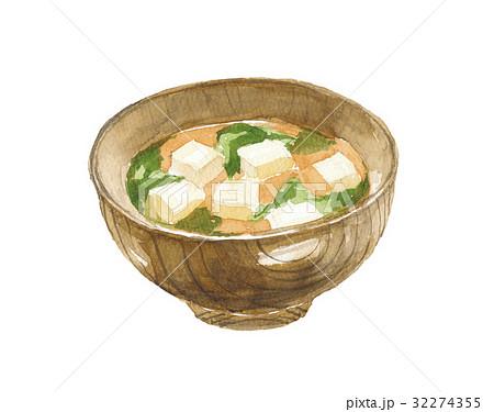味噌汁 豆腐とわかめ 32274355