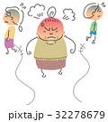 怒っている女性を避ける人々 32278679